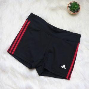 New Adidas Climalite Short Shorts Black & Red L